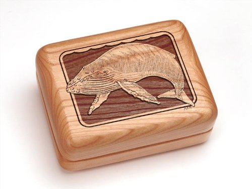 "3X4"" Box With Money Clip/Pocket Knife - Humpback Whale"