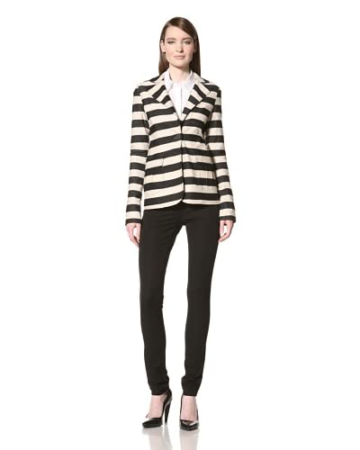 10 CROSBY Women's One Button Jacket  - Black