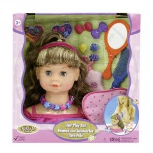 Hair Styling Head with Comb & mirror with over 12 accessories Amazon.com