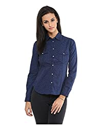 Yepme Women's Blue Polyester Tops - YPWTOPS1357_L