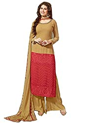 APRAH FASHIONS Women's Faux Georgette Unstithed Dress Material (AFV-Florida-1004_Brown_Freesize)