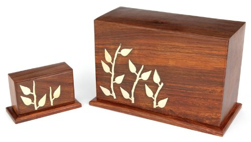 Urns UK Wooden Urn Dulverton Keepsake, Brown