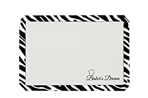 Zebra Print Silicone Baking Mat, X-Large Sheet, Professional Commercial Food-Grade, Premium High Quality Non-Stick Cookie Sheet Mat. Durable and Reusable Oven Pan Liner, Cook and Bake Like a Chef