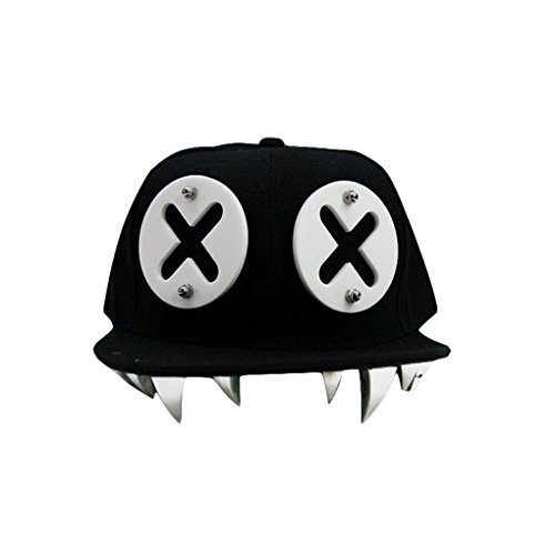 TM Men Women Hip Hop Brim Eye Teeth Adjustable Baseball Hat Cap Snapback (Black Tooth Cap compare prices)