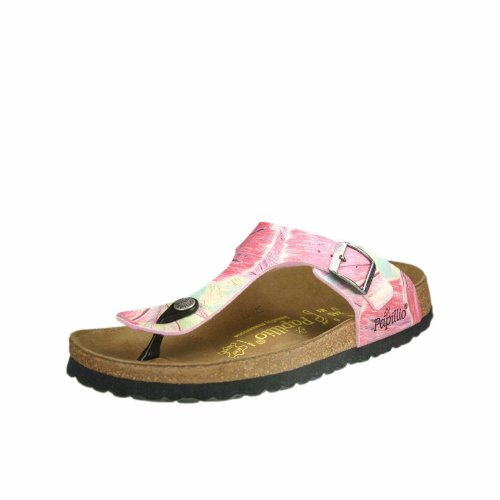 Papillio By Birkenstock - Infradito Gizeh Birkoflor Regular Manmade, rosa (Brush Art Rose)