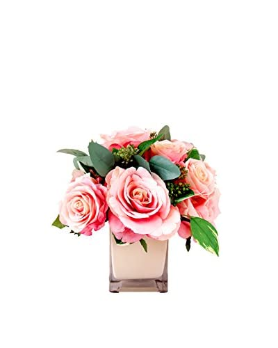 Creative Displays Roses and Berries Bouquet, Pink/Green