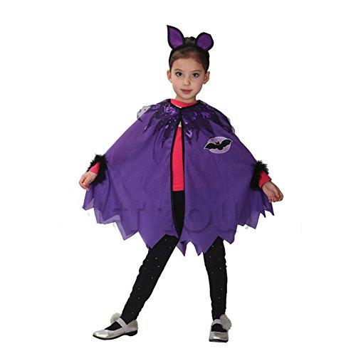 B&Y Halloween Cloak Cosplay Costume Party Cape Child Cloak (L)