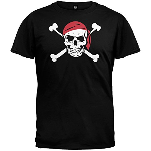 Jolly Roger Pirate Costume Youth T-Shirt - Youth Large front-1068745