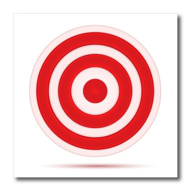 3dRose Red and White Target Circle - Iron on Heat Transfer, 8 by 8-Inch, for White Material (ht_125019_1) (Red And White Target compare prices)