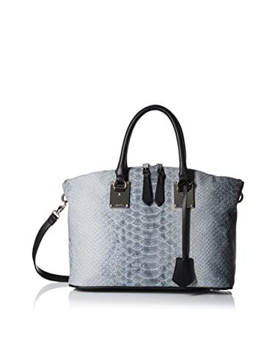 London Fog Women's Smithfield Satchel, Stone Snake