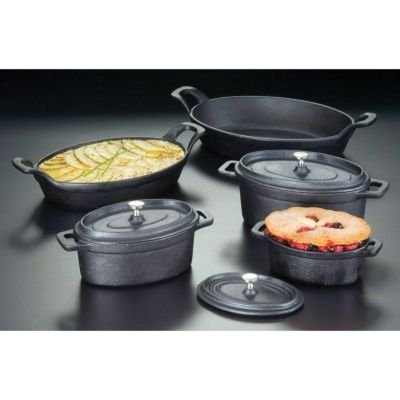 American Metalcraft Cipov9567 Cast Iron Oval Casseroles And Pots 12 Length X Width