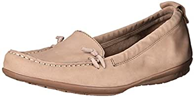 Hush Puppies Women's Ceil MT Slip-On Loafer,Taupe Nubuck,5.5 M US
