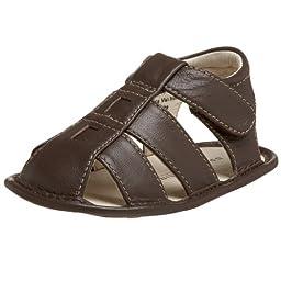 Jumping Jacks Infant/Toddler Sun Fish Crib Shoe,Brown Leather,5 M US Toddler
