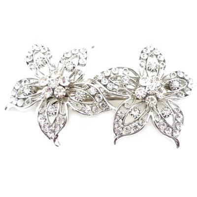 Bridal Hair Accessories cristalli Swarovski, Aster, fiori Barrette