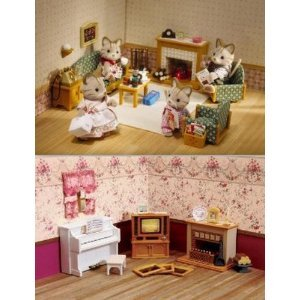 Calico Critters Deluxe Living Room Furniture Accessories 2 Sets