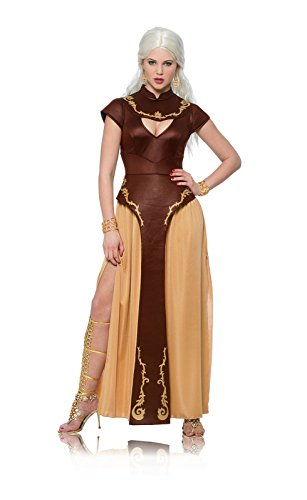 Costume Culture Women's Barbarian Warrior Costume, Brown, Large