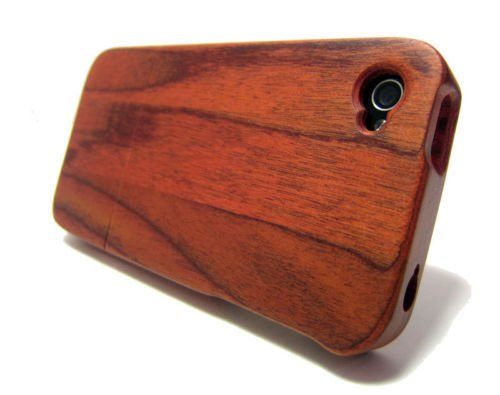 QUAD G TECH Handmade Walnut Wood Case for iPhone 4 4S