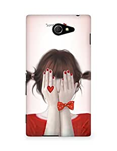 Amez designer printed 3d premium high quality back case cover for Sony Xperia M2 D2302 (Cute Girl)