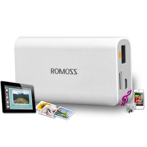 Battery Bank Romoss sofun 2 SD 5200mAh Portable Emergency Universal USB external/extended/backup battery pack power bank and Micro USB cable with LED flashlight for iPhone 5, Samsung Galaxy S III and much more USB devices.