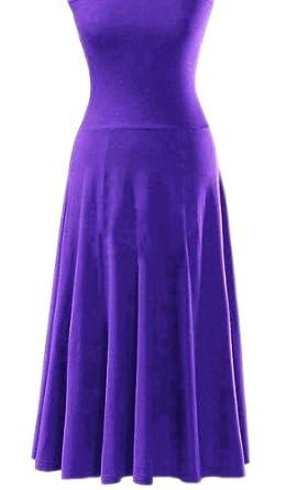 Fashion Sexy Style Bikini Cover-Up Dress Lady Girl Deep-V Swim-Wear Beach-Skirt (Purple, Small)