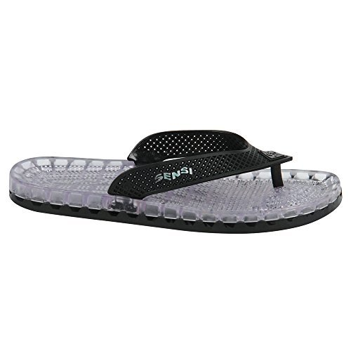 c3a560c3ed404 Sensi Shower Spa Pool Beach Sandal Waterproof Black Barcelona Unisex Flip  Flops (Us 5 Sensi