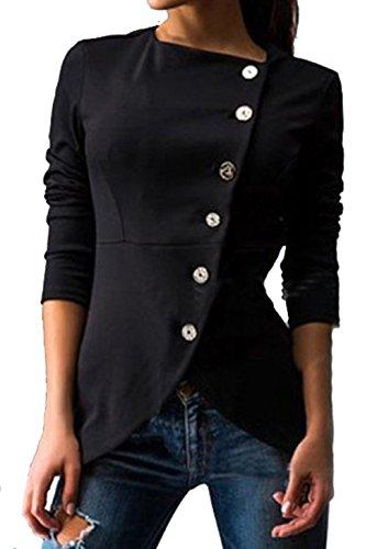 longwu-abrigo-mujer-negro-negro-xl