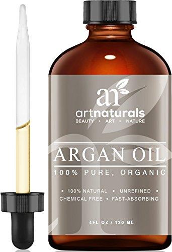 Art Naturals organisches Arganöl 120ml, für Haar, Gesicht und Körper, 100 % pure Güteklasse A, dreifach extra unberührt, kaltgepresst vom Kern des marokkanischen Arganbaums - das Anti-Aging, Anti-Falten Schönheitsgeheimnis thumbnail