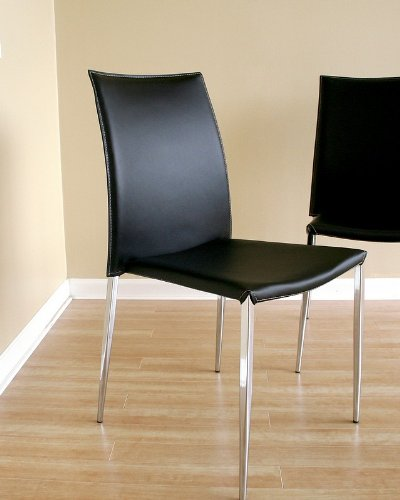 dining room chairs contemporary benton black leather dining chair