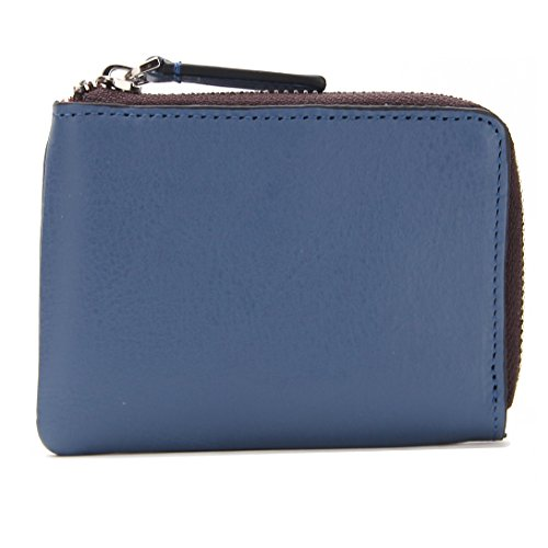 tovier-genuine-leather-slim-zip-around-bifold-wallet-coin-purse-id-cash-holder-slim-new-edition-blue