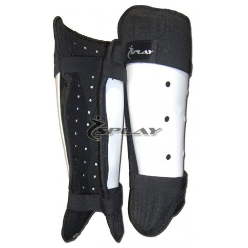 Splay Club Hockey Shin Pads - (White) Medium