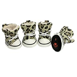 Jardin Anti-Slip Sole Leopard Sports Sneakers/Shoes for Dogs and Cats
