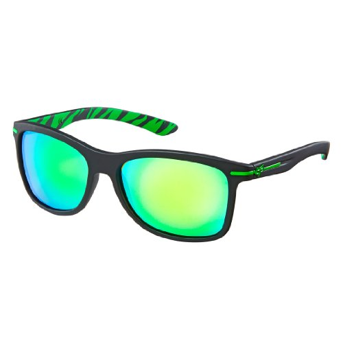 Fox Racing Double Deuce Sunglasses Matte Black Forezaken | Green Spark 07206-910
