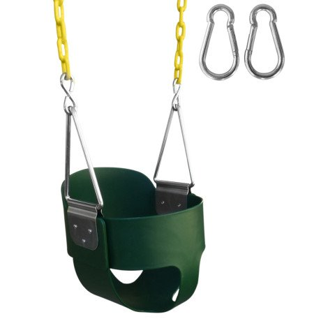 swingnplay high back full bucket swing with 67inch coated chain - Lifetime Adventure Tower Playset