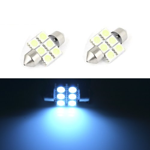 JDM ASTAR 2X 5050 Chipsets 1.25 inches DE3175 DE3021 DE3022 3175 LED Bulbs for Dome Lights, Interior Map Lights, Trunk Lihgts, Courtesy Lights, Ice Blue (Ice Blue Motorcycle Lights compare prices)