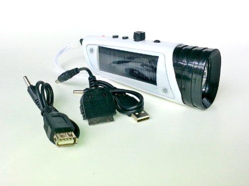 Multifunctional Solar Flashlight Dynamo Fm Radio Led High Fi Speaker With Cellphone Charger