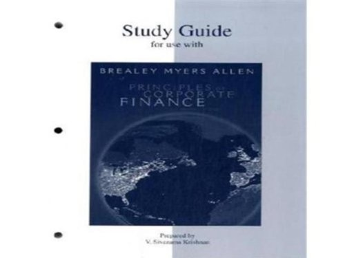 Study Guide to accompany Principles of Corp. Finance