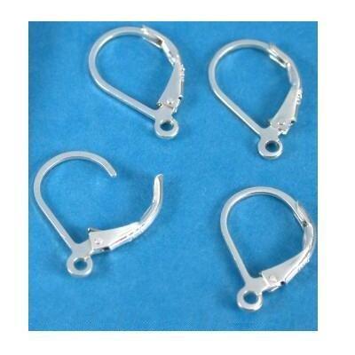 4 Sterling Silver Lever Back Earrings Earwire Findings