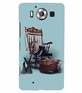 PrintVisa Cool Boy 3D Hard Polycarbonate Designer Back Case Cover for Nokia Lumia 950