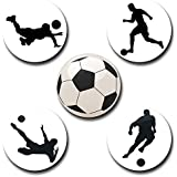 Capturing Happiness Multi-color Football Button Pin Badge Pack Of 5 - B0725NK7DJ