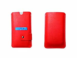 ATV Genuine Leather ORANGE Designer Pouch Case Cover For Huawei Honor 4X