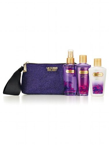 Victoria Secret Love Spell Clutch Purse Gift Set with Body Lotion, Body Mist and Body Wash