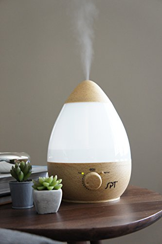 SPT SU-2550GN Ultrasonic Humidifier with Fragrance Diffuser, Wood Grain