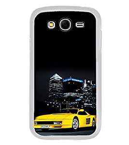 ifasho Stylish Yellow Car Back Case Cover for Samsung Galaxy Grand