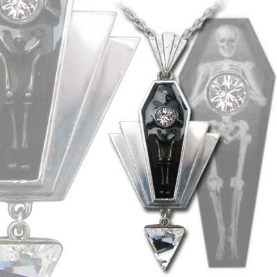 Alchemy Gothic Deco Gothique Coco Casket Jewel Necklace