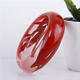 Lucite Handmade Real Flower Botanical Garden Jewelry resin bangle bracelet.{56} Size 64mm,height 23mm.