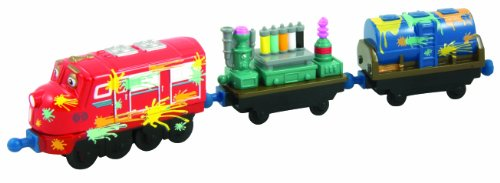 Imagen principal de Chuggington Die-Cast - Locomotora Wilson y el vagón de pintura (3 piezas)