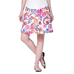 Mamacouture Women's Maternity Skirt (MCBPSP9S_Pink_36)