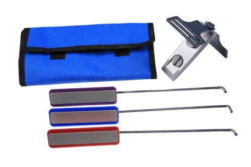 EZE-LAP DMD-Kit Clamp On Fixed Angle Type Knife Sharpening Kit