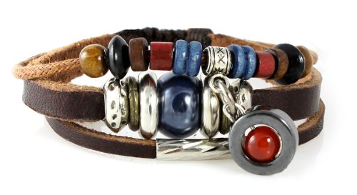 Durango Leather Zen Bracelet, Multi-strand  Orange