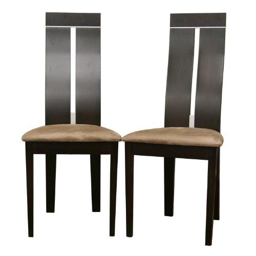 Baxton Studio Magness Modern Dining Chairs, Dark Brown, Set Of 2